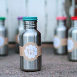 Stalen drinkfles - blauw - 500 ml