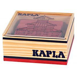 Gekleurde Kapla plankjes - rood - 40 stuks