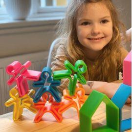 Siliconen speelset 3 Kids - neon