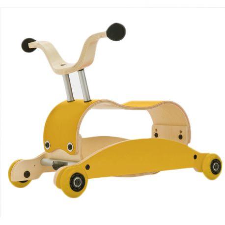 Mini-Flip 3-in-1 loopwagen geel + geel + geel