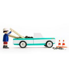 Houten speelgoedauto - Longhorn Teal