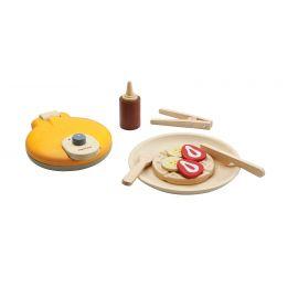 Houten wafel set