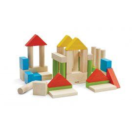 Set van 40 kleurrijke blokken