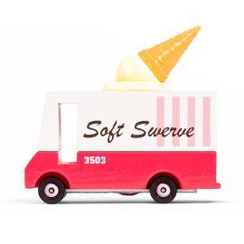 Houten speelgoedauto - Candyvan - Ice Cream Van