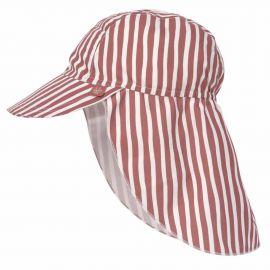 UV-beschermende flapjeshoed - Stripes red