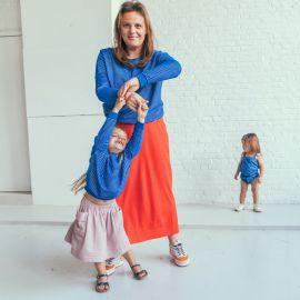 Oversized Sweater - Terry Stripes - Palace blue - Kids