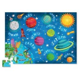 puzzle 'espace' dans boîte silhouette 72pces
