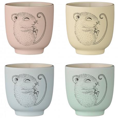 4 bijzonder mooie kopjes uit keramiek