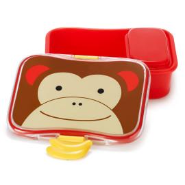 lunchbox met snackdoosje Zoo - aap
