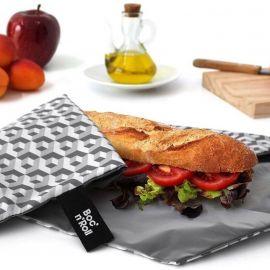 Herbruikbare en afwasbare foodwrap Boc'n'Roll - Tiles Black